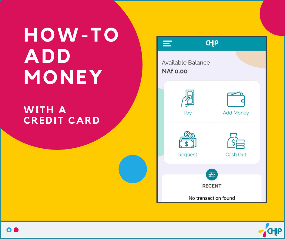 How to add money with a Credit Card