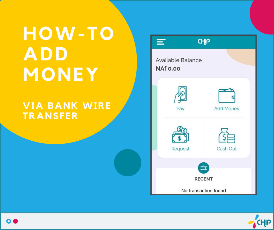 How to add money via Bank Wire Transfer