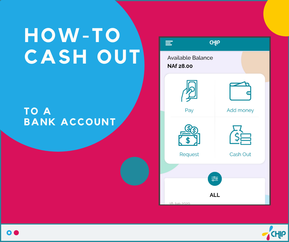 How to cash out to a Bank Account